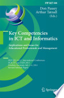 Key Competencies in ICT and Informatics  Implications and Issues for Educational Professionals and Management