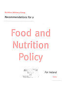 Recommendations for a Food and Nutrition Policy for Ireland 1995