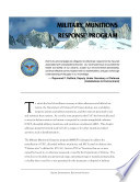 Defense environmental programs annual report to Congress  Military Munitions Response Program  2002  Book