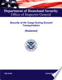 Read Online Security of Air Cargo During Ground Transportation (Redacted) For Free