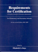 Requirements For Certification Of Teachers Counselors Librarians Administrators