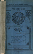 Proceedings of the Agricultural Society of Trinidad and Tobago