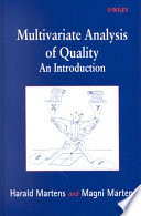 Multivariate Analysis of Quality