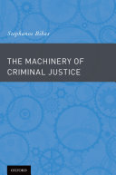 Pdf The Machinery of Criminal Justice Telecharger