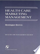 Health Care Marketing Management Book PDF