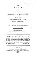 Pdf An Inquiry into the principles of harmony in language, and of the mechanism of verse, modern and antient. The second edition, with ... large additions