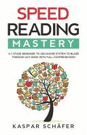 Speed Reading Mastery Pdf/ePub eBook