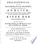 Philosophical and Mathematical Reasons