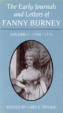 Early Journals and Letters of Fanny Burney