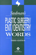 Stedman s Plastic Surgery ENT dentistry Words