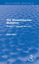 Routledge Revivals: The Shakespearean Metaphor (1990)