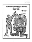 Humanistic Mathematics Network Journal Book