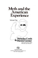 Myth and the American Experience