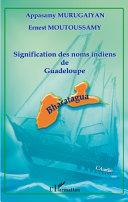 Pdf Signification des noms indiens de Guadeloupe Telecharger