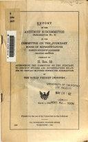 Report of the Antitrust Subcommittee