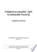 Indigenous Peoples' Right to Adequate Housing