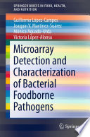 Microarray Detection And Characterization Of Bacterial Foodborne Pathogens Book PDF