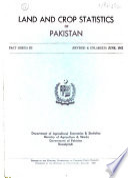 Land and Crop Statistics of Pakistan