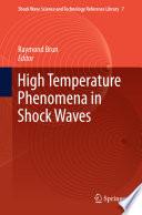 High Temperature Phenomena In Shock Waves Book PDF