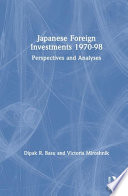 Japanese Foreign Investments, 1970-1998