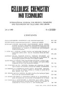 Cellulose Chemistry and Technology