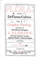 Flora: Seu, de Florum Cultura