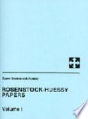 Rosenstock Huessy Papers Book