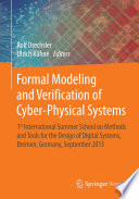 Formal Modeling And Verification Of Cyber Physical Systems Book PDF