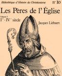 Pdf Les Pères de l'Église (Ier - IVe siècle) Telecharger