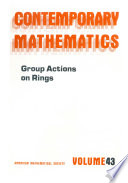 Group Actions on Rings