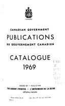 Canadian Government Publications: Catalogue