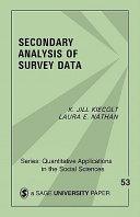 Secondary Analysis of Survey Data