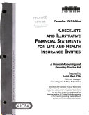 Checklists And Illustrative Financial Statements For Life And Health Insurance Entities