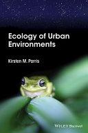Ecology of Urban Environments Pdf/ePub eBook