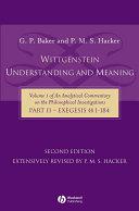 Wittgenstein: Understanding and Meaning