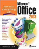 How to Do Everything with Microsoft Office 2003