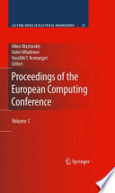 Proceedings Of The European Computing Conference Book PDF