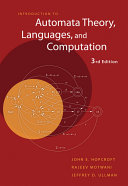 Cover of Introduction to Automata Theory, Languages, and Computation