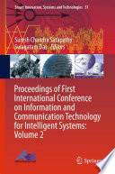 Proceedings of First International Conference on Information and Communication Technology for Intelligent Systems: