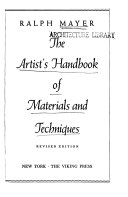 The Artist s Handbook of Materials and Techniques Book
