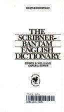 The Scribner Bentam English Dictionary Book