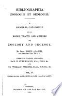 Bibliographia Zoologiæ Et Geologiæ