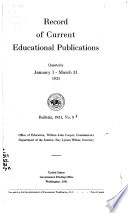 Record Of Current Educational Publications