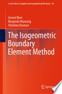 The Isogeometric Boundary Element Method Book PDF