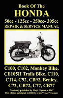 Honda Motorcycle Manual  All Models  Singles and Twins 1960 1966  50cc  125cc  250cc   305cc