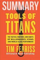 Summary  Tools of Titans Book PDF