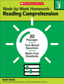 Week-By-Week Homework: Reading Comprehension Grade 3