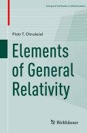 Elements of General Relativity [Pdf/ePub] eBook
