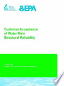 Customer Acceptance of Water Main Structural Reliability