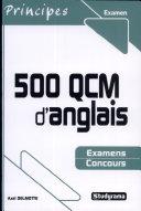 500 QCM d'anglais